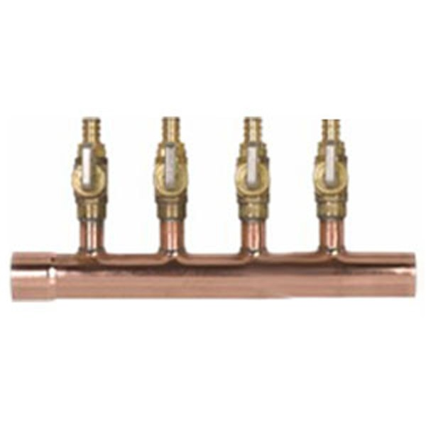 Copper Potable Manifold With Ball Valve