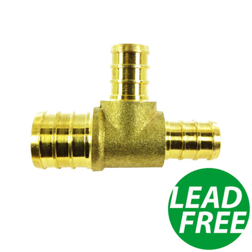 """New 3//4/"""" x 3//4/"""" x 1//2/"""" PEX BRASS LEAD FREE TEES Fitting Water Line Coupler 10"""