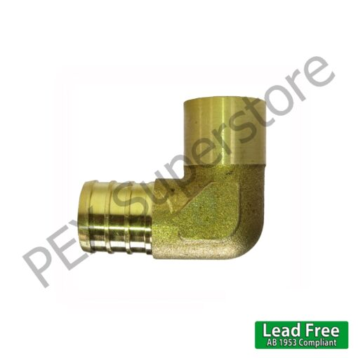 "Brass Crimp Fitting 3//4/"" PEX x 3//4/"" Male Sweat Elbow LEAD-FREE"